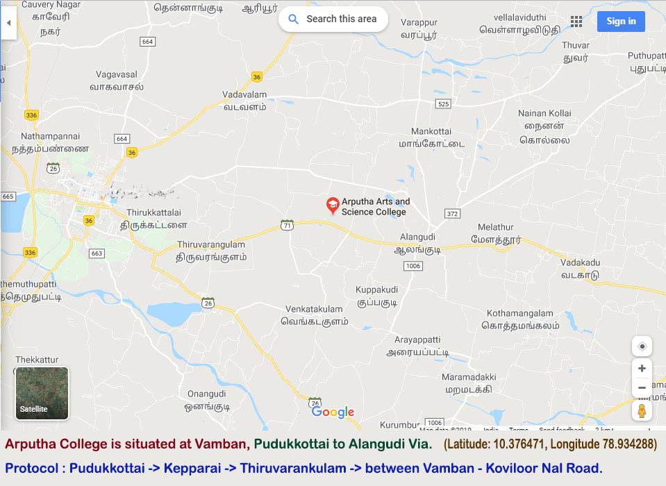 Pudukkottai to Alangudi Via, Latitude:10.376471, Longitude:78.934288